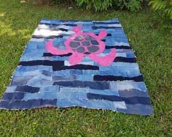 Patchwork throw rug