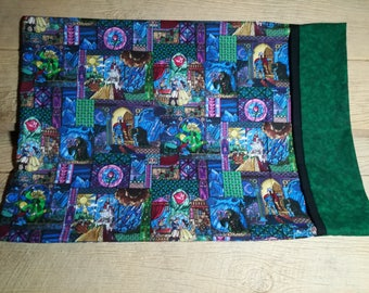 Beauty and the Beast Stained Glass Pillowcase