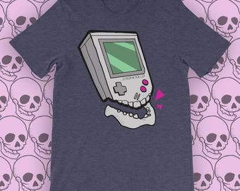 T Shirt Skull #7 - Gameboy  - Zeropatollo Indie design