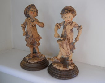 Capodimonte G. Armani muscian figurines - drummer and singer