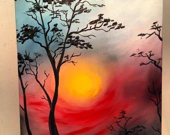 Morning Dusk Oil Painting
