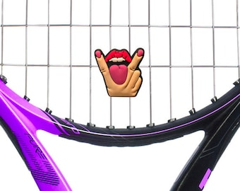 Obscene Gesture Eat Me Tennis Vibration Dampener 2 Pack by Racket Expressions. Great tennis gift for women! Fun gift idea sure to get laughs