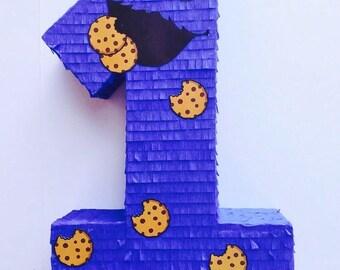 Birthday Celebration Cookie Monster Pinata (Sesame Street). Celebration birthday pinata arrangement of cookies (sesame)