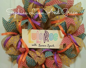 Lularoe Inspired Wreaths. Customize to your name & Color preference.