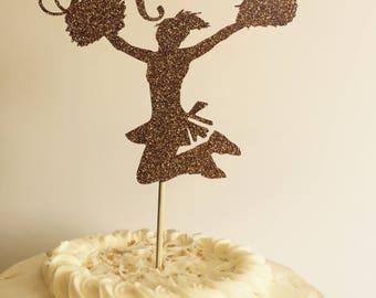 Custom Made Cheerleader Cake Topper-Birthday Cake Topper