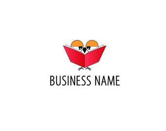 Book Logo | Owl Logo | Reading Logo | Logo | Business Logo | Logo Design | Animal Logo | Cute Logo | Pre made Logo | Custom Logo Design