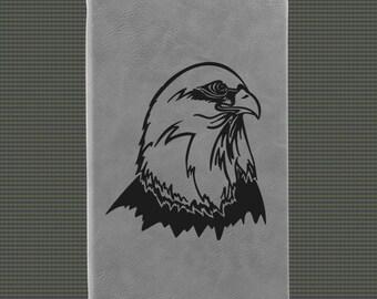 Engraved Leatherette Journal - Eagle Designs