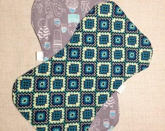 100% cotton flannel double sided Burp cloths set of 2 gender neutral cactus aztec