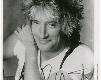 Rod Stewart signed autograph print