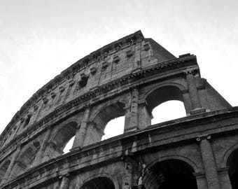 Black and White, Colosseum, Italy