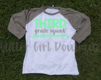 Teacher Squad Shirts |Teacher Shirts | Teacher Raglan | Grade Level Shirts | Team Teacher Shirts | Love Teacher Team Shirts| Elementary Team