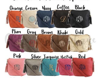 Monogram Crossbody Secret Pocket Purse, Monogram Concealed Carry, Concealed Carry Purse, Monogram Purse, Personalized Large Crossbody