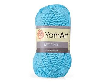 Begonia yarnart Mercerized cotton Yarn for knitting Crochet yarn Cotton yarn Summer yarn Cotton yarn Hand knit yarn Color choice Amigurumi