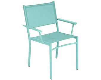 Outdoor colorful Fermob chair - Costa French patio armchair