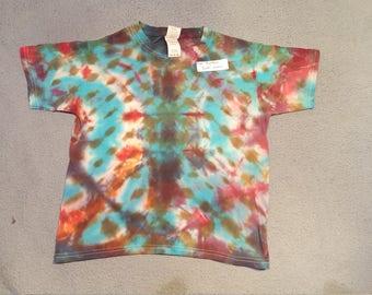 """tie dye t-shirt youth small""""random"""""""