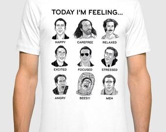 Nicolas Cage Moods Funny Men's Women's T-shirt