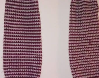 Red and White Striped Vintage Leg Warmers