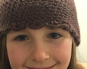 Crocheted childs beanie