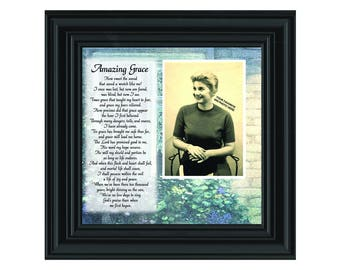 Amazing Grace, In Memory of Loved One, Gifts Religious, 10x10 6787