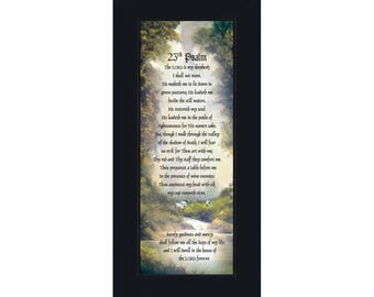 23rd Psalm, Bible verse from Psalm, 6x12 7731BC