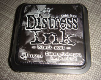 "Tim Holtz Distress Ink Pad  ""Black Soot"" by Ranger"