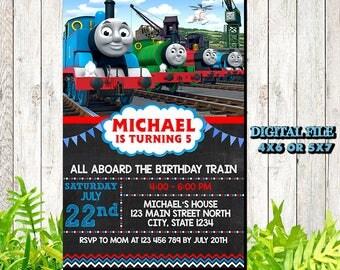 Thomas The Train Invitation / Thomas The Train Birthday Invitation / Thomas The Train / Thomas The Train Birthday / Thomas The Train Party
