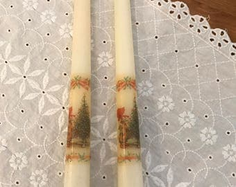 Holly Hobbie taper candles
