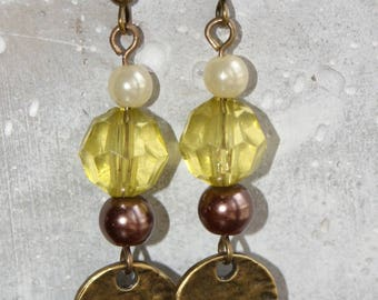 Sequin and beads earrings