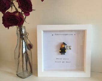 Personalised Lego GRADUATION picture in wooden frame, hand-made