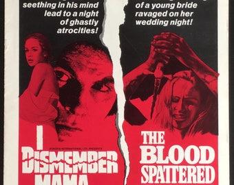 US pressbook I dismember mama and the blood splattered bride 1972