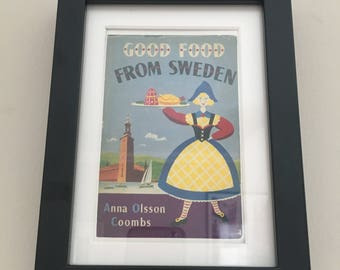 Classic Cookery Book cover print- framed - Good Food From Sweden