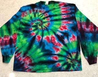 XL Long Sleeve Ice Dyed Shirt
