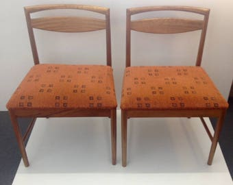A pair of vintage, teak, 1960's, G plan chairs