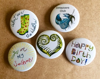 Badges 38mm - Sold As Single Badge - Small Birthday Gift - Fun Gift - Badge Accessory - Pin- Accessories