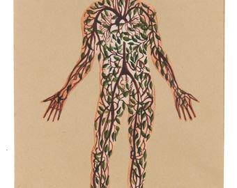 Tree Man A3 Print
