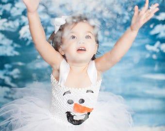 Olaf costume tutu dress!! Halloween costume, tutu costume, birthday tutu dress, princess tutu dress, Olaf dress, Frozen birthday