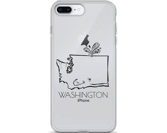 Washington State Whale - iPhone Case (7, 7 Plus, 8, 8 Plus, X)