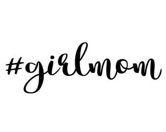 Girl Mom SVG Clipart Cut Files Silhouette Cameo Svg for Cricut and Vinyl File cutting Digital cuts file DXF Png Pdf Eps