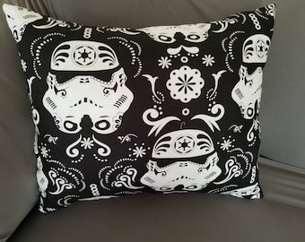Sugar Skull Storm Trooper Throw Pillow