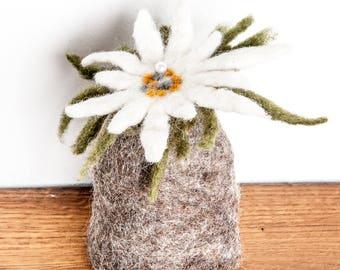 Egg Warmer Edelweiss Flower handmade