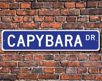 Capybara, Capybara Gift, Capybara Sign, Capybara decor, Capybara expert,  largest living rodent, Custom Street Sign, Quality Metal Sign
