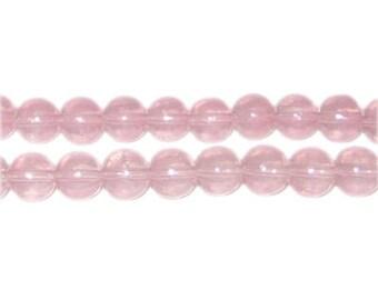 8mm Soft Plum Jade-Style Glass Bead, approx. 55 beads