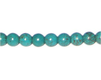 """8mm Round Turquoise Bead, 16"""" string"""