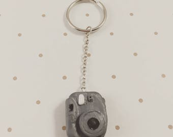 Polymer Clay Mini Polaroid Camera Keychain