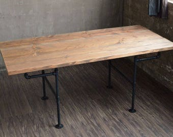 Dining Room Table / Iron Pipe / Industrial / pipe dining table / rustic dining table/ table/ Rustic/ Metal/ Modern