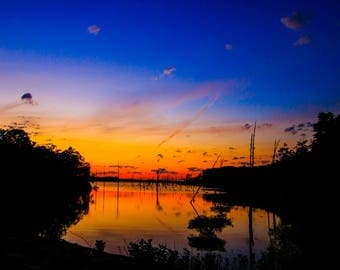 Manasquan Reservoir Sunrise, New Jersey Shore, Photography