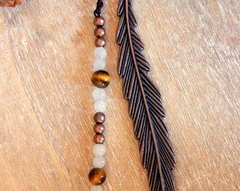 Bookmark bronze antique gems and pearls