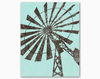 FARMHOUSE WALL ART Decor, Rustic Windmill, Digital Printable, Country Decor, Rustic Wall Art, Housewarming Gift, Diy Art, Instant Download