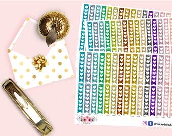 Glitter Heart Checklist Planner Stickers, Heart Planner Sticker, Check List Sticker, Cute Kawaii Sticker, Planner Accessories - 30 Stickers