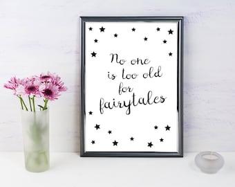 Disney Inspired Print, Fairytales -A4
